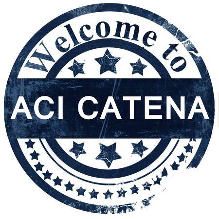 catena: Aci Catena stamp on white background Stock Photo