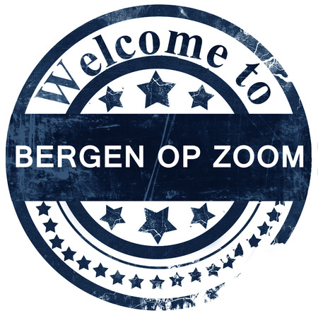 Bergen op zoom stamp on white background Banco de Imagens