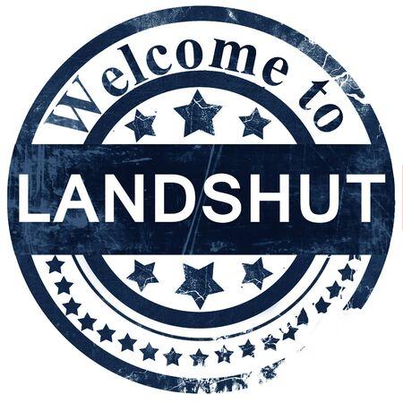 landshut: Landshut stamp on white background Stock Photo