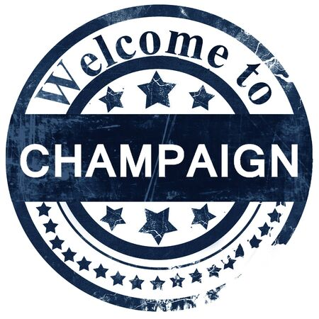 champaign: champaign stamp on white background Stock Photo