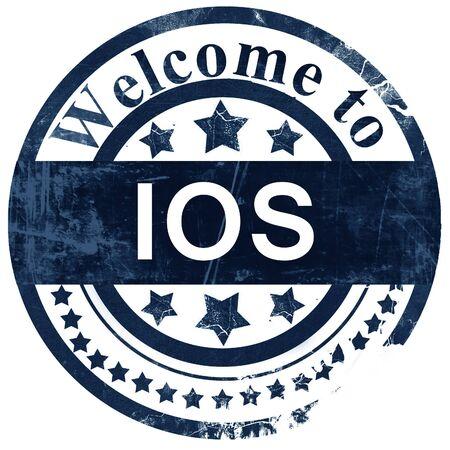 ios: Ios stamp on white background