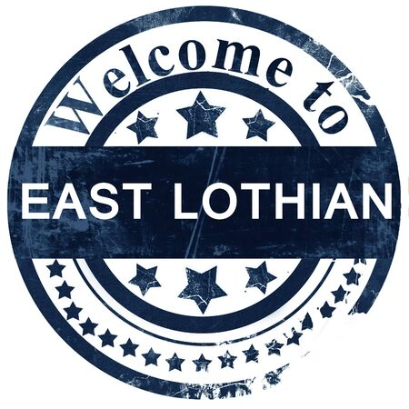 lothian: East lothian stamp on white background