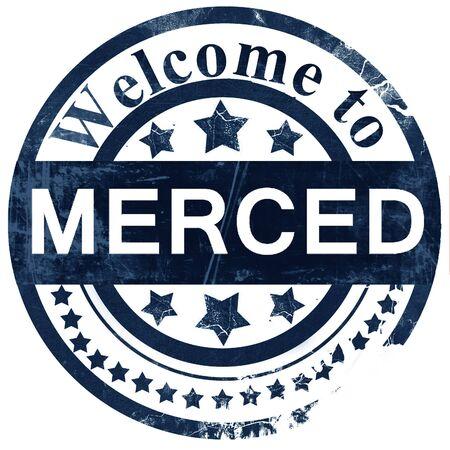 merced: merced stamp on white background