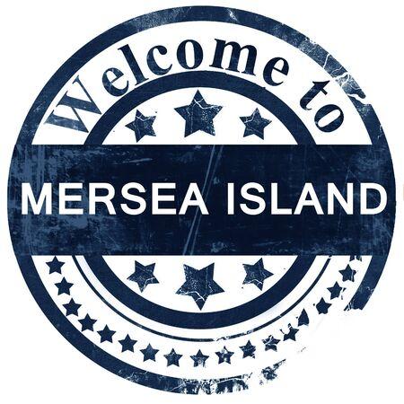 Mersea island stamp on white background Stock Photo