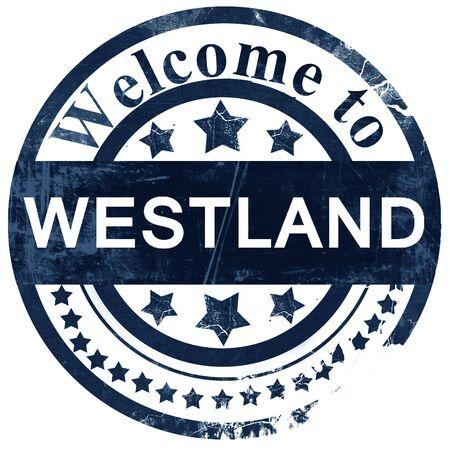 westland: westland stamp on white background