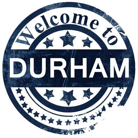 durham: durham stamp on white background