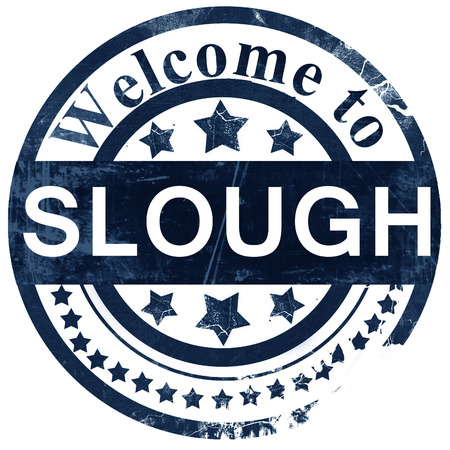 slough: Slough stamp on white background Stock Photo