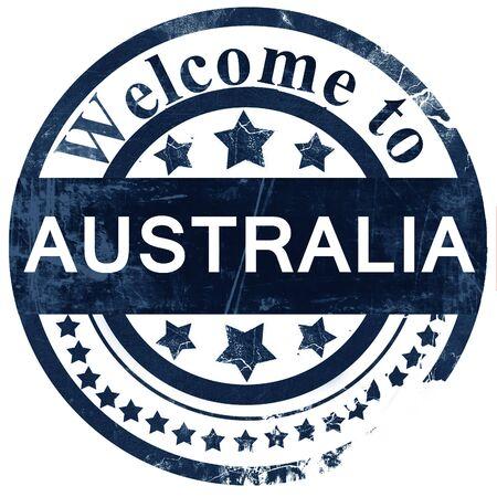 australia stamp: Australia stamp on white background