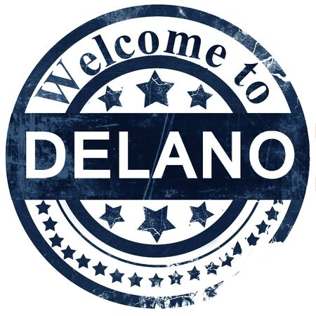 delano stamp on white background Stock Photo