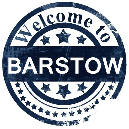 barstow: barstow stamp on white background Stock Photo
