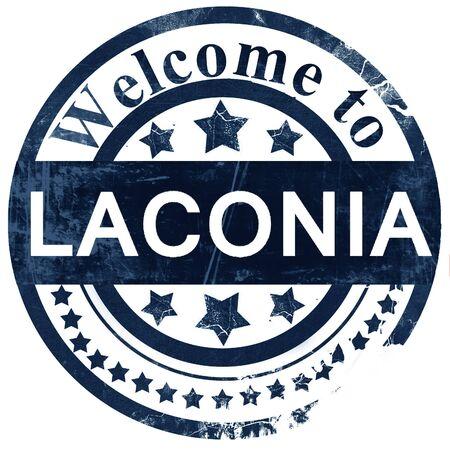 laconia: laconia stamp on white background
