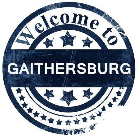 gaithersburg stamp on white background
