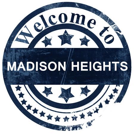 madison: madison heights stamp on white background Stock Photo