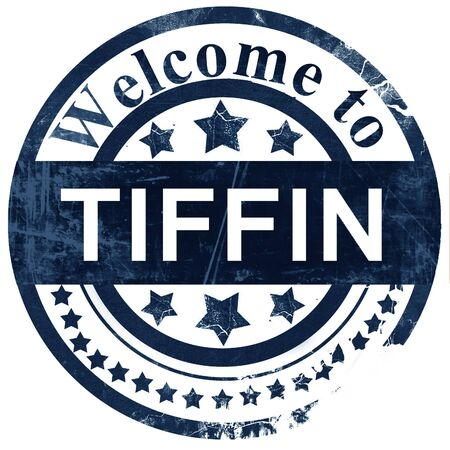 tiffin: tiffin stamp on white background