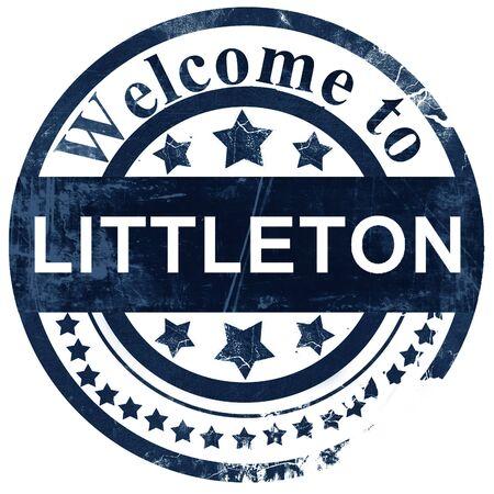 littleton: littleton stamp on white background