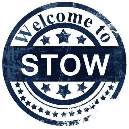 stow: stow stamp on white background Stock Photo