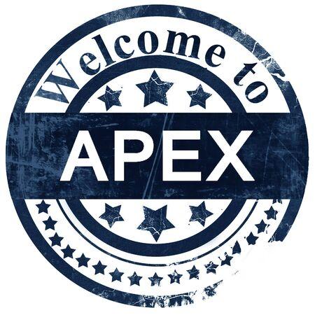 apex: apex stamp on white background