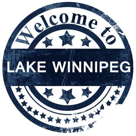 lake winnipeg: Lake winnipeg stamp on white background