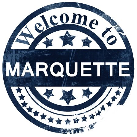 marquette: marquette stamp on white background