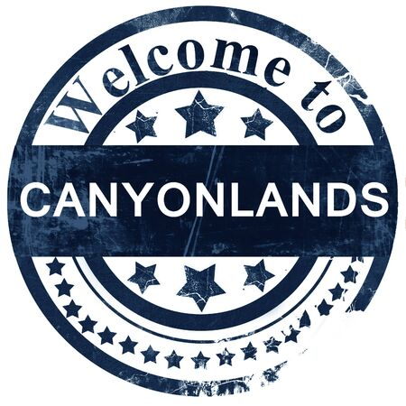 canyonlands: Canyonlands stamp on white background