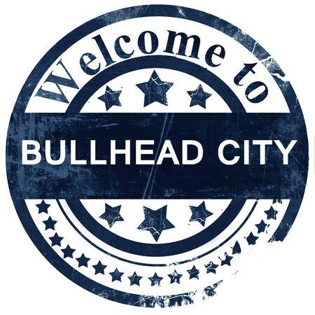 bullhead: bullhead city stamp on white background