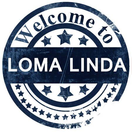 linda: loma linda stamp on white background
