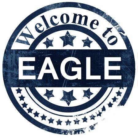 Eagle Stamp On White Background Stock Photo