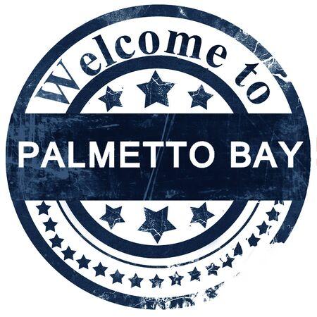 palmetto: palmetto bay stamp on white background Stock Photo