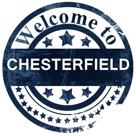 chesterfield: chesterfield stamp on white background