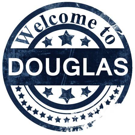 douglas: douglas stamp on white background