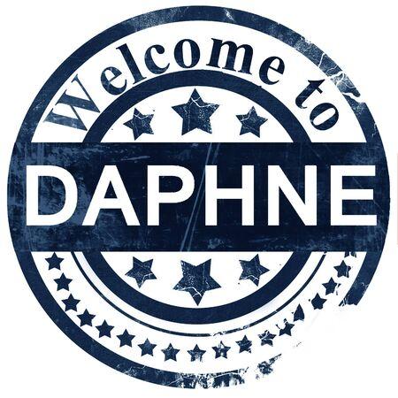 dafne: daphne stamp on white background Archivio Fotografico