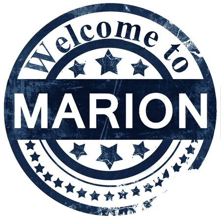 marion: marion stamp on white background