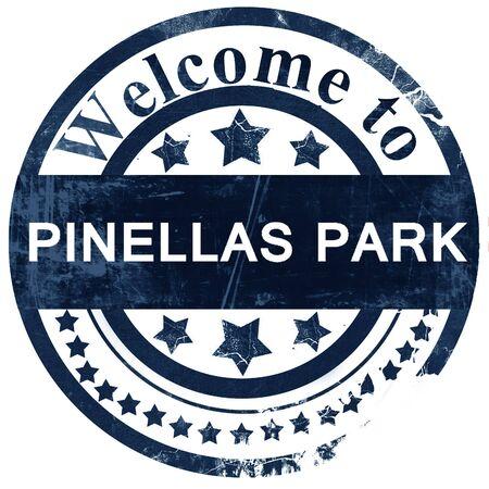 pinellas: pinellas park stamp on white background Stock Photo