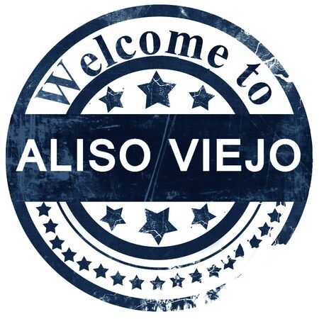 viejo: aliso viejo stamp on white background Stock Photo