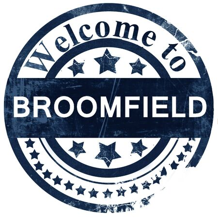 broomfield: broomfield stamp on white background Stock Photo