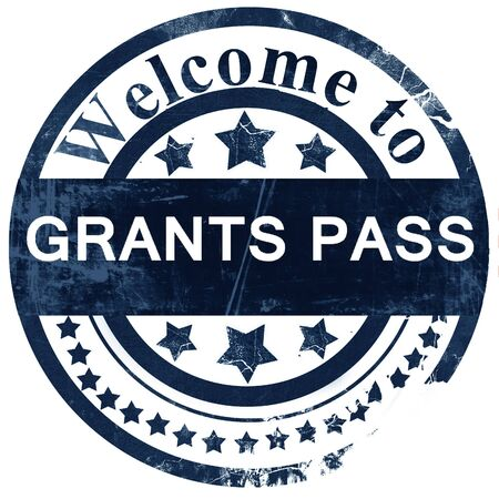 grants: grants pass stamp on white background