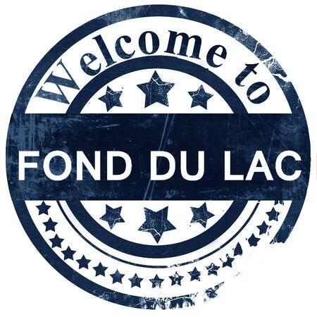fond: fond du lac stamp on white background