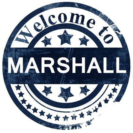 marshall: marshall stamp on white background