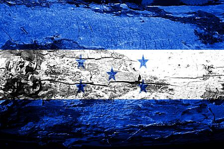 bandera honduras: Honduras flag with grunge texture Foto de archivo