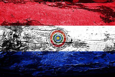 bandera de paraguay: bandera de Paraguay con textura del grunge