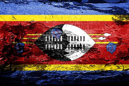 Swaziland flag with grunge texture