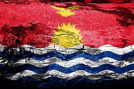 Kiribati flag with grunge texture Stock Photo