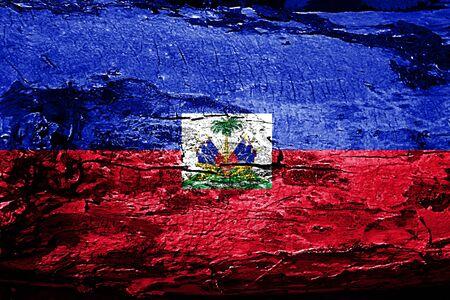 Haiti flag with grunge texture
