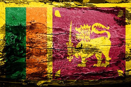 Sri lanka flag with grunge texture Stock Photo