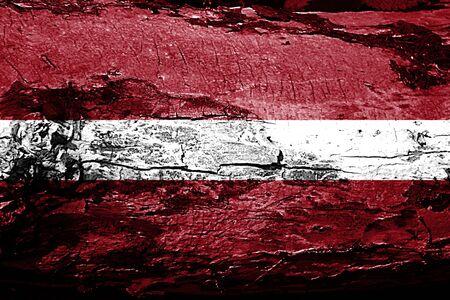 latvia flag: Latvia flag with grunge texture Stock Photo