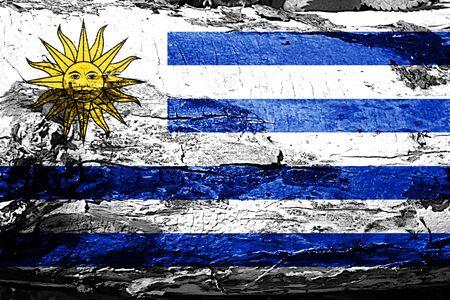 bandera uruguay: Uruguay flag with grunge texture