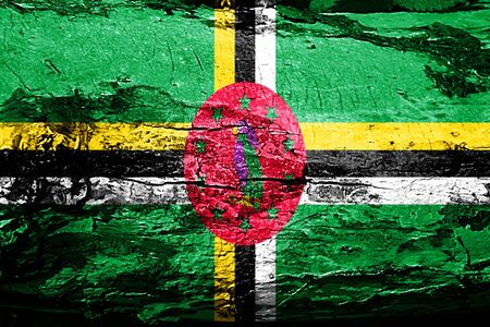 Dominica flag with grunge texture Stock Photo