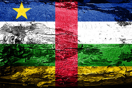 Central african republic flag with grunge texture Stock Photo