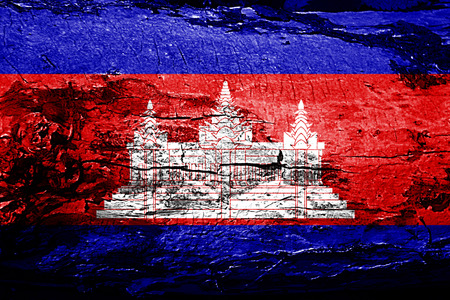 Cambodia flag with grunge texture