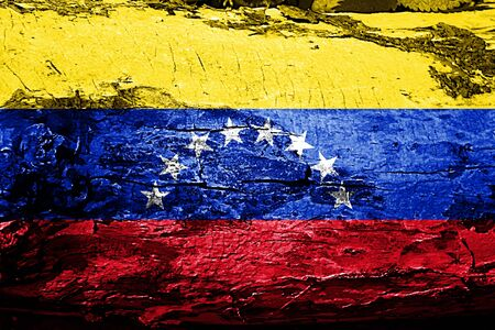 bandera de venezuela: bandera de Venezuela con textura del grunge